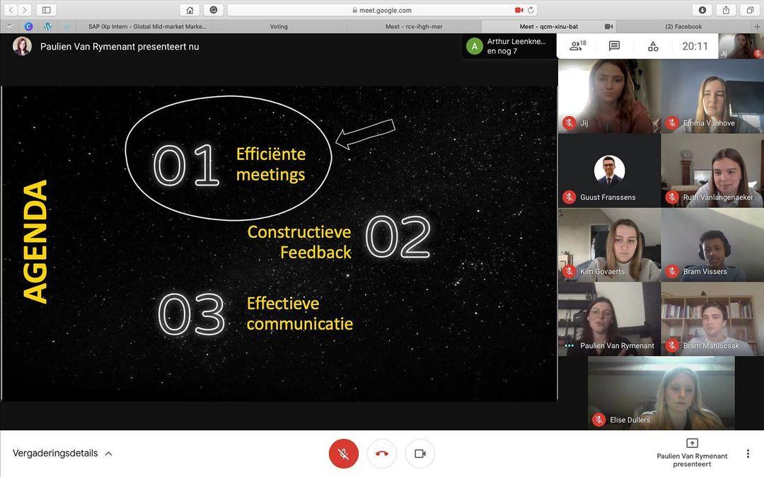 Efficiënte meetings 👨💻 , communicatie 💬 en feedback 🗯binnen een team... Say no more! Strateeg Paulien gaf deze week een stoomcursus aan de bestuursleden van @juniorconsulting @universiteithasselt 🔥🎯👩🎓#profpaulien #howitsdone